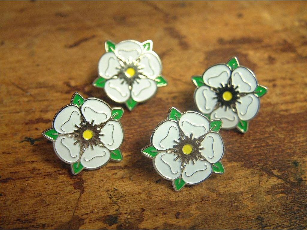 Yorkshire Rose lapel pin badge