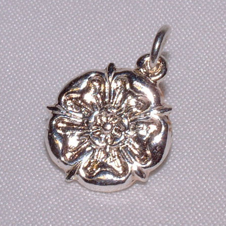Sterling silver rose pendant charm yorkshire badges buy aloadofball Image collections